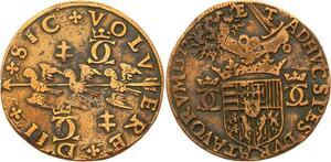 O3540 Rare Jeton duche Lorraine Charles III Grand duc 1572 TRois alérions