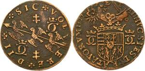 O3542 Rare Jeton duche Lorraine Charles III Grand duc 1572 TRois alérions