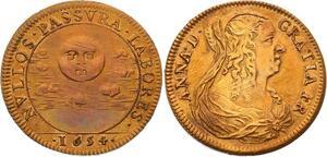 O3558 SUP Jeton Louis XIV Anne Autriche Austria 1654 SUP ->M offre