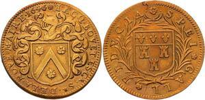 O3576 Jeton Louis XIV Touraine Jacques Bouet Maire 1646 ->Make offer