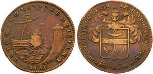 O3584 Rare Jeton Louis XIV Dijon Francois Baudot 1691 ->Make offer