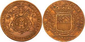 O3589 Jeton Louis XIV Dijon Nicolas Labotte Maire Vicomte 1713 SUP SPL