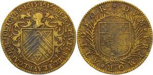 O3598 Rare Jeton Henri IV Touraine Tours Charles Boutault Maire 1615 1616