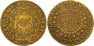 O3599 Jeton Louis XIII Commune Blois Municipal ->Make offer