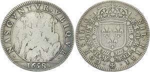O3663 Jeton Louis XIV Ardennes Forteresse Prise de Montmedy 1658 Argent