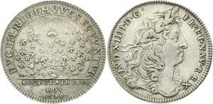 O3677 Rare Jeton Secrétaires du Roi Louis XIV 1679 Argent Silver ->Make offer