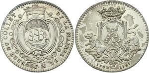 O3763 Rare Jeton Louis XV Nantes Avocat Léonard Joubert Collet 1763 Argent SUP