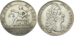 O3768 Jeton Louis XIV Monnayeurs Rouen Prieurs juges consuls 1712 Argent
