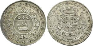 O3776 Rare Jeton CFF de Montmorency Luxembourg Normandie 1709 Argent ->M offre