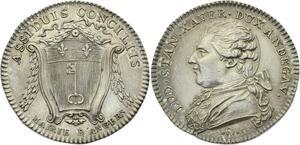 O3785 Jeton Louis XVI Angers duc d'Anjou 1785 argent silver SUP ->M offre