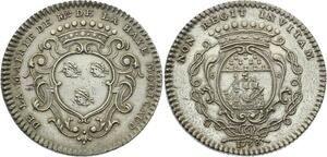 O3792 Rare Jeton Louis XV Maire Nantes Francois de la Haye Moricaud 1738 Argent