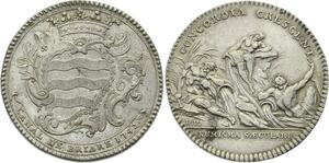 O3793 Rare Jeton Louis XV Canal Briare Louis Antoine Pardaillan 1742 Argent