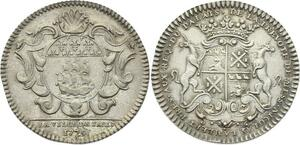 O3808 Jeton sous Louis XV Nicolas Lambert Prévot Paris 1725 Argent Silver