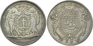 O3814 Jeton Jérôme BigNon Bibliothèque du Roi 1767 Argent Silver ->Make offer