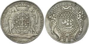 O3815 Jeton Louis XV Villes Armand Jérôme Bignon Bibliothèque Roi Argent Silver