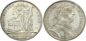 O3819 Jeton Louis XV Assemblée Clergé Dénuement Couvents 1753 Argent Silver SUP