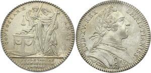 O3823 Jeton Louis XV Assemblée Clergé Dénuement Couvents 1753 Argent Silver SUP