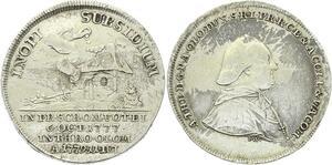O3824 Scarce German States Antonius Theodorvs Inopi Subsidium 6 Oct 1777 Silver