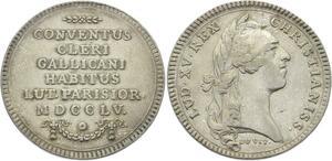 O3826 Jeton Louis XV Assemblée Clergé Religieux 1755 Argent Silver ->Make offer