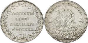 O3831 Rare R2 Jeton Louis XV Clergé Religion 1730 Argent Silver ->Make offer