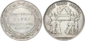 O3832 Jeton Louis XV Clergé et Jetons Religieux 1775 Argent Silver ->Make offer