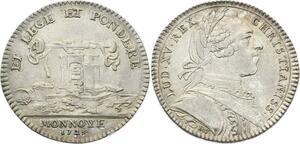 O3835 Jeton Louis XV Monnaie de Paris Louis XV 1723 Loi Poids Argent SUP