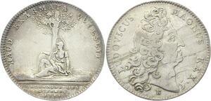 O3852 Jeton Louis XV Ordinaire des guerres 1715 Pallas Argent Silver