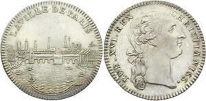 O3853 Rare Jeton Louis XVI Ville de Paris 1774 La Seine Argent SUP ->Make offer