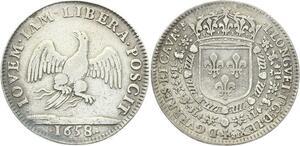 O3861 Rare R3 Jeton Louis Longuet Trésorier Extraordinaire Guerres 1658 Arg