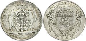 O3867 Rare !! R2 Jeton Louis XV Isle Belle armand Jerome BIGNon Argent SUP