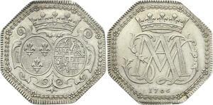 O3883 Rare Jeton Savoie Marie Adélaïde duchesse Bourgogne Louis XV 1706 Argent
