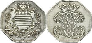 O3886 Tres Rare Jeton Octogonal Joseph II Bonnier de la Mossson Argent