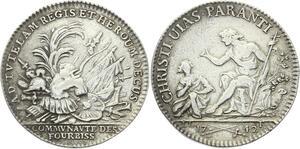 O3896 Rare Jeton Louis XV Corporations fourbisseurs armuriers 1742 Silver