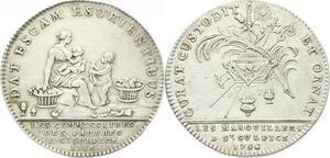 O3907 Rare Jeton Eglise Saint-Sulpice 1756 Argent Silver ->Make offer