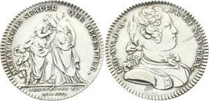 O3933 Rare Jeton Louis XV Argenterie Roi 1727 Argent Silver ->Make offer