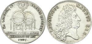 O3935 Tres Rare Jeton Louis XIV Marly le Roi Versailles 1705 Argent Silver SUP