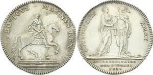 O3937 Tres Rare Jeton Louis XIV Extraordinaire guerres 1715 Silver SPL !!