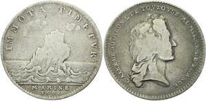 O3997 Rare Jeton Louis Alexandre de Bourbon comte Toulouse Marine 1695 Argent