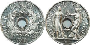 O4 Rare 25 Centimes Essai delpech 1914 PGCS SP66 FDC -> Make offer