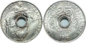 O7 Rare 25 Centimes Essai Coudray 1913 PGCS SP66 FDC -> Make offer