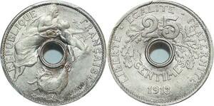 O20 Rare 25 Centimes Essai Coudray 1913 PGCS SP66 FDC -> Make offer