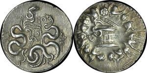 O38 Rare Mysia Pergamon Cistophoric Tetradrachm c. 95-92 Silver