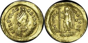 O43 Very Rare Aelia Pulcheria Solidus Constantinople c. 450-7 Gold