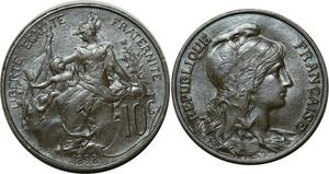 O73 Rare !! 10 Centimes dupuis 1898 Mat !!! Splendide -> Make offer