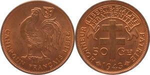 O85 Cameroun 50 Centimes 1943 Pretoria Cod Rooster FDC !!!! -> Make offer