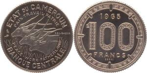 O97 Unique Unlisted Cameroun Pré série 100 Francs Essai 1965 Elans PCGS SP67