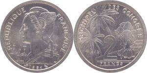 O100 Comores 2 Francs 1964 FDC -> Make offer