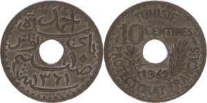 O121 Tunisie 10 centimes Ahmad Pasha Protectorat Francais 1942 SPL FDC