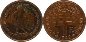 O184 Afrique Equatoriale Francaise 1 Franc Liberté 1943 -> Make offer