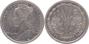 O185 Afrique Equatoriale Francaise 1 Franc Marianne 1948 Superbe +++